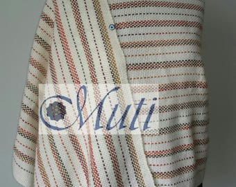 MOTHER EARTH- Hand woven shawl with stripes
