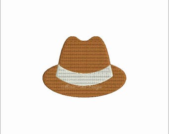 Man Hat Machine embroidery design Instant Download