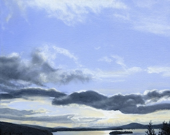 Art Print - Rangeley Lake in March