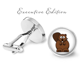 Beaver Cufflinks - Beavers Cuff Links - Rodent Cufflink (Pair) Lifetime Guarantee (S1001)