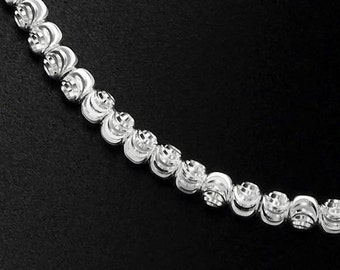 30 of 925 Sterling Silver Diamond Cut Spacer Beads 3mm. :th2273