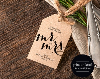 Thank You Wedding Tags, Rustic Wedding Tag, Gift Tag, Thank You Tag Printable, Rustic Wedding Printable, PDF Instant Download #BPB133_32