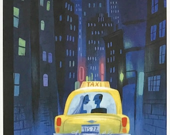 Postcard featuring a famous 'New Yorker' cover - Just Married - June 2007. BIG discount for multiple purchases!!