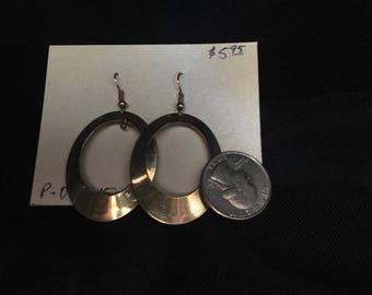 Earrings- large dangling hoops
