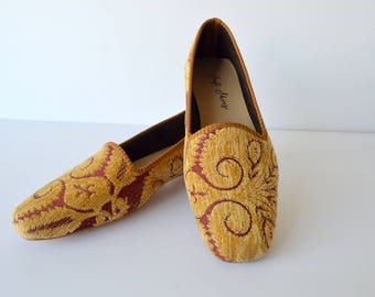 Women upholstery fabric shoes - 39 Euro size (26 cm-10,5 inch)