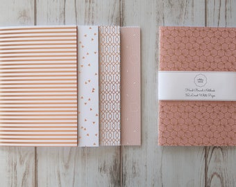 Rose Gold Softcover Notebook Journal Travelers Notebook Diary Writing Notebook Hand Bound 32 Lined White Pages *** Sold Individually ***