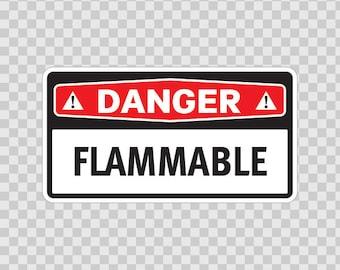 Decals Sticker Danger Flammable Motorbike Weatherproof safety sign 14294