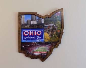 Ohio Wall Art (Stained/Distressed)