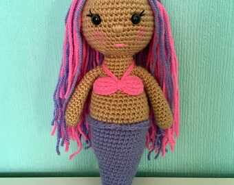Beautiful crocheted mermaid