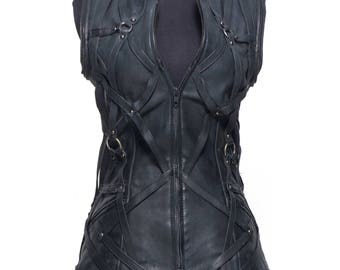 Strappery Leather vest