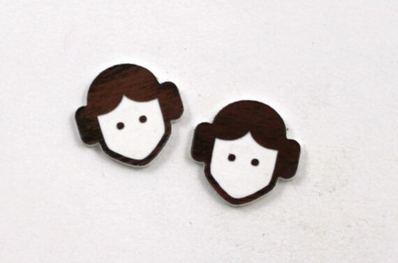 Laser Cut Supplies- Set of 8. Princess Leia Charms-Acrylic and Wood Laser Cut-Jewellery Supplies-Little Laser Lab Wood and Acrylic Products