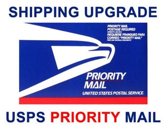 Shipping Upgrade - US Addresses Only - USPS Priority Mail - for Delivery 2-3 Business Days AFTER the Mailing Date