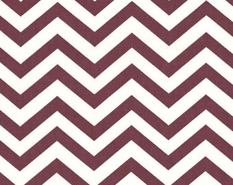 Skinny Chev Mahogany, Chevron Birch Organic, Mod Basics 2, Dark Brown, Modern Fabrics, One Yard, More Available