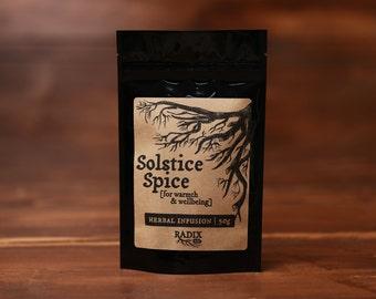 Herbal Tea - Warming, Winter Tea, Sore Throat, Immune Boost - Licorice, Cinnamon, Cacao, Rosehips, Cedar Leaf, Spearmint - Herbal Infusion