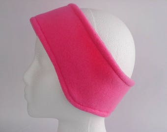 Bright Pink Fleece Ear Warmer / Earband