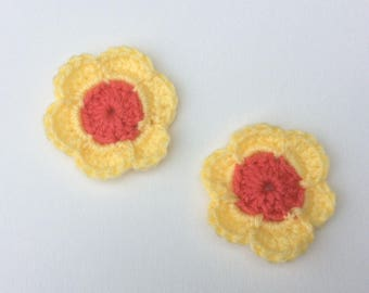 Little Girls Set of 2 Flower Ponytail Holder Hair Accessory
