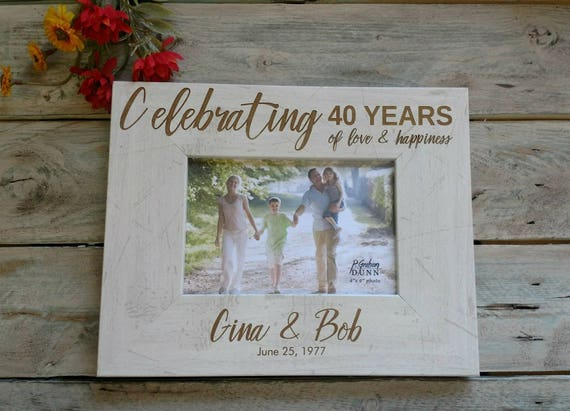 Personalized anniversary picture frame 40th anniversary frame