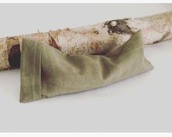 Organic Lavender and Flax Eye Pillow- Red Onion Skin and Iron Dyed Removable Cover