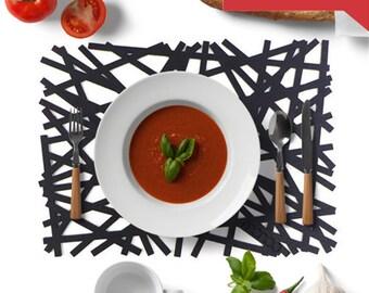 Felt Luncheon Mat-Trunk,Housewarming Gifts,Home Decor,Table Mats Set of 2