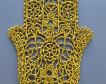 Embroidered Lace Hamsa Applique you choose colour