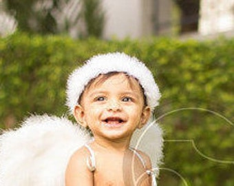 Spring Halo wired soft feather angel halo white, ivory, black, red, light blue, or pink Christmas angel