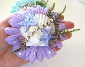 "Mermaid Hair Clip, Starfish Hair Clip, Mermaid Hair Accessorie, Pinup Mermaid, Starfish - ""Under The Sea Memaid"""
