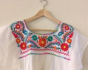M-L Floral Mexican Blouse