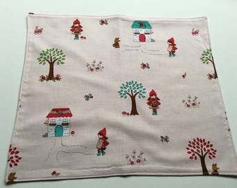 Childrens' Kids Placemat - Smaller size - LITTLE  RED  RIDINGHOOD - for home or school