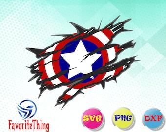 Captain america sheild svg/captain america svg,dxf,png/ captain america Silhouette / captain america PNG / svg Files for Cricut