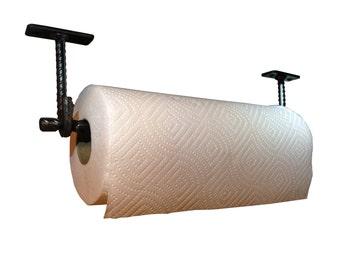 Hand Forged Re-bar Paper Towel Holder - Under Cabinet Mount