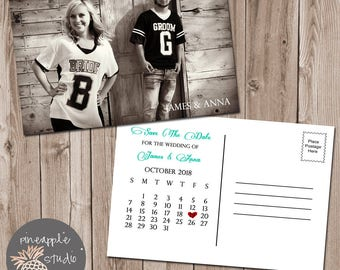 Save The Date Wedding Postcard, Wedding Printable
