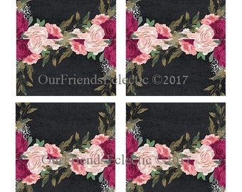 burgundy floral place cards, blank place cards, chalkboard name cards, printable place cards, YOU add text using GRAPHICS PROGRAM, you print