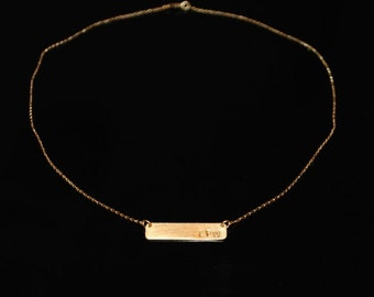 CUSTOM* gold-plate necklace