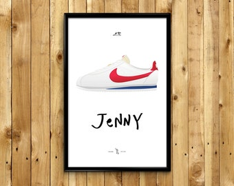 """Forrest Gump Sneakers """"Jenny"""" Nike Cortez"""