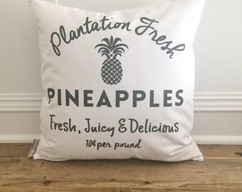 Plantation Fresh Pineapple Pillow Cover