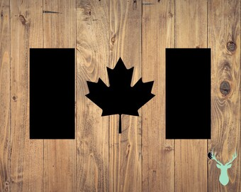 Canadian Flag | Canada | Bumper Sticker | The Mint Deer