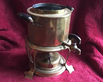 Early 20th Century Joseph Heinrichs Coffee Urn (Rare 1907 Patent) - Burner, Stand, and Pot