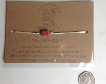 gemstone wish bracelet