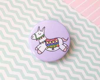 Cute Llama Pin Button Badge Llama Gift Wedding Favour Party Favour Llama Badge Llama Accessories