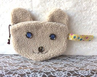 Bear shaped pouch - Bear bag