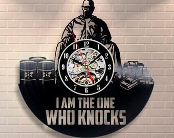 Breaking Bad Wall Clock Vintage Birthday Gift For Fan Jesse Pinkman Vinyl Record Wall Clock Serial Room Decor Breaking Bad Wall Clock Modern