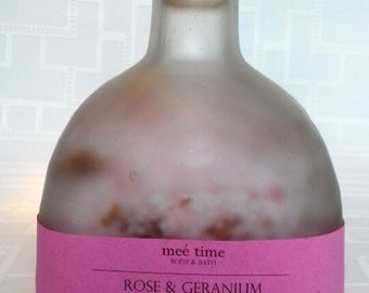 Rose & Geranium Handmade Bathsalts