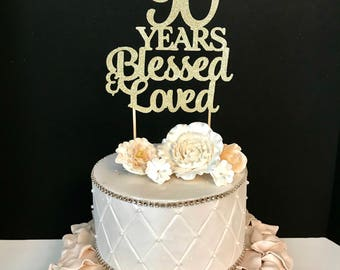 Blessed cake topper Etsy