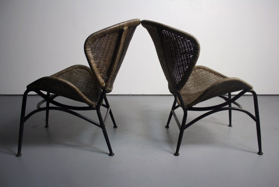 High Quality PROFOUND Clam Shell Wicker Chairs In The Manner Of Salterini