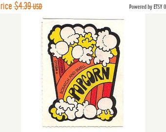 SALE Vintage Mello Smello Scratch and Sniff Popcorn Sticker 80's