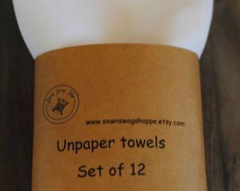 Unpaper Towels- Birdseye Cloth