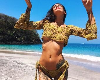 Crochet Top Festival Top Beachwear Summer Trend