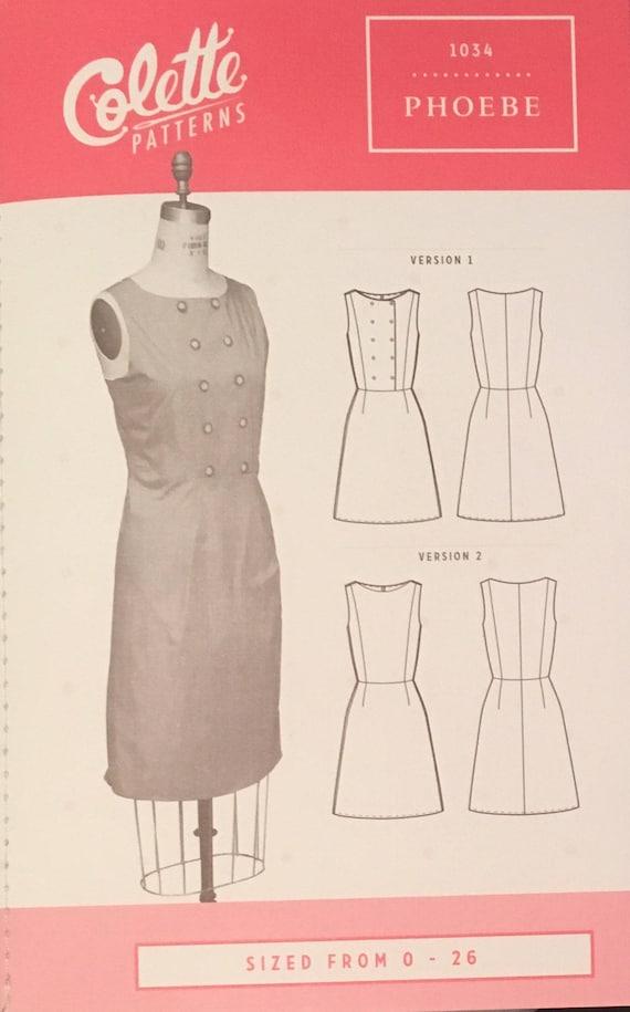 Phoebe Kleid Muster von Colette Muster Anfänger Shift Kleid