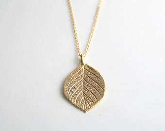 Gold Leaf 28 inch Long, Layering Necklace