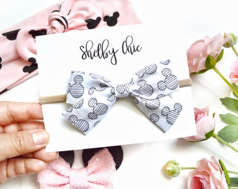 Striped Mickey Sailor Bow